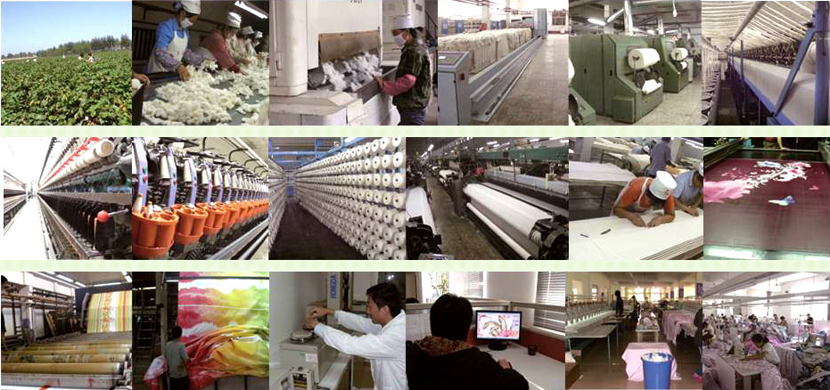 彩翼家纺十八道生产工序 细节彰显品质